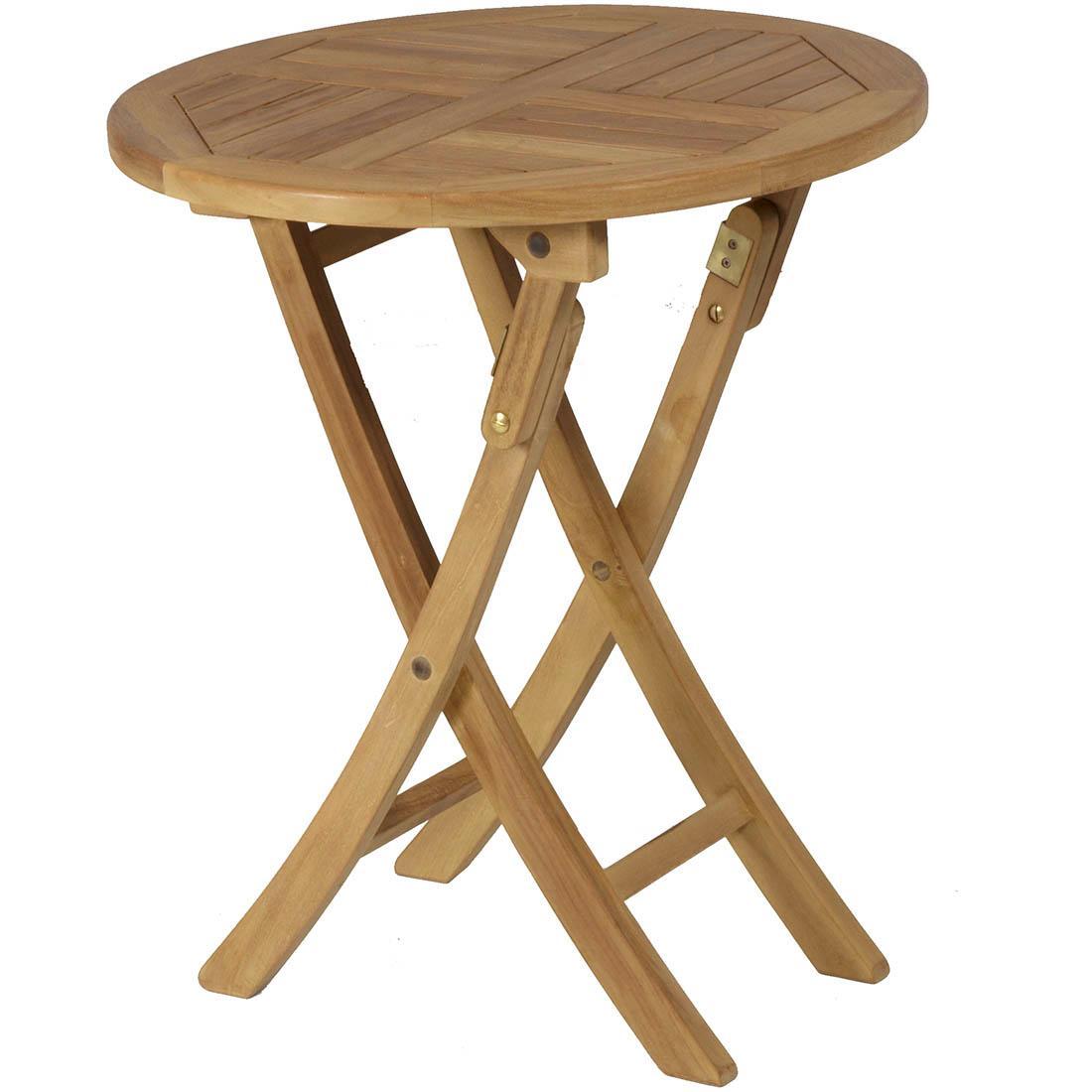 Mesa redonda plegable teca jard n y exteriores - Muebles de teca para jardin ...