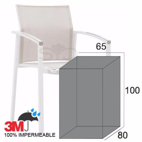 Funda para sillas de exterior, jardín o terraza. Para sillas apilables