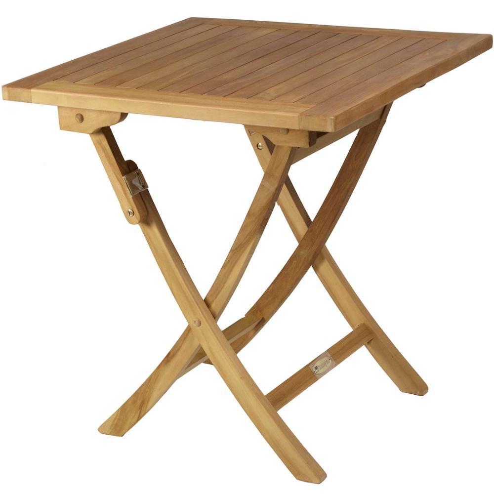 Mesa cuadrada plegable teca jard n y exteriores - Mesa de teca ...