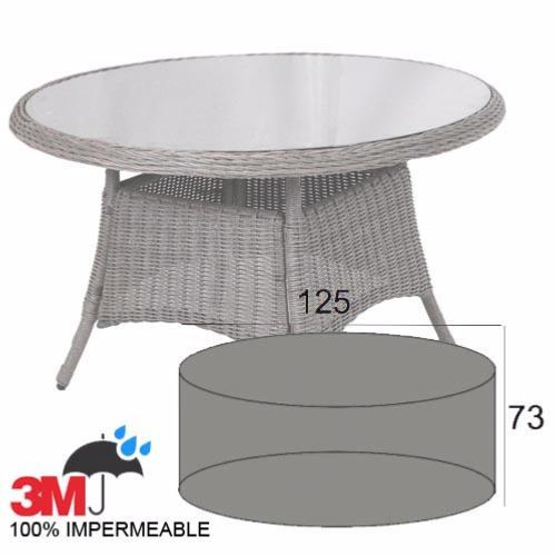 Funda mesa redonda para exterior jard n o terraza - Mesa redonda exterior ...