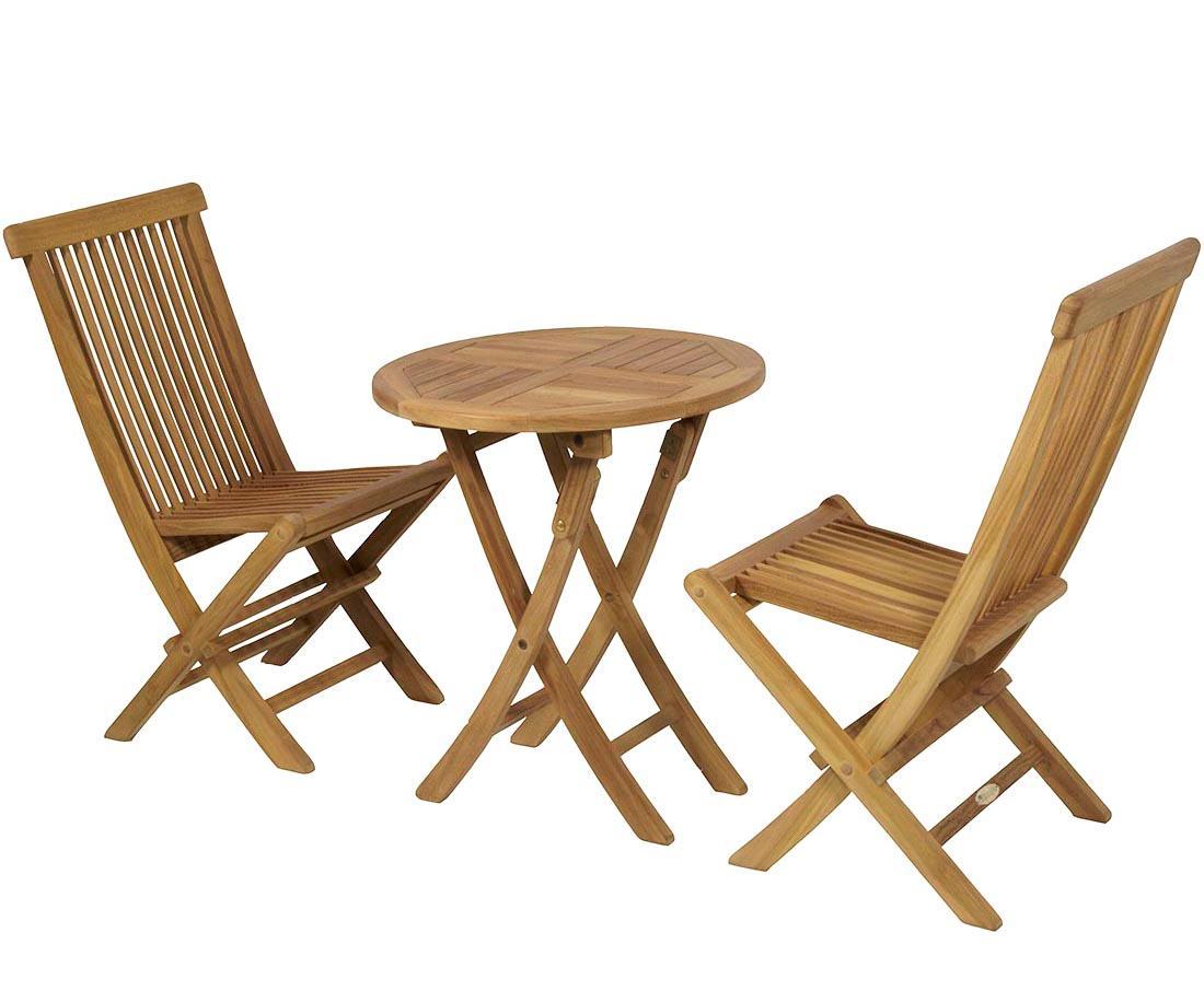 Set teka conjunto de teka mesa redonda plegable oferta for Makro muebles jardin