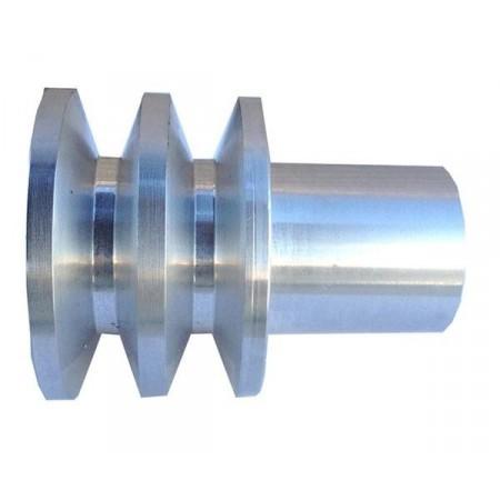 Polea polea aluminio doble canal para motores for Polea para subir muebles