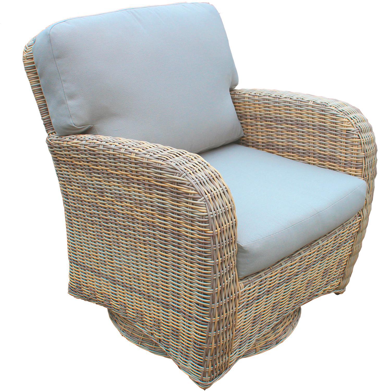 Sill n giratorio exterior y jard n fibra sint tica oferta - Muebles fibra sintetica ...