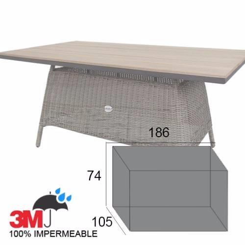 Funda mesa rectangular para exterior jard n o terraza - Fundas mesa jardin ...