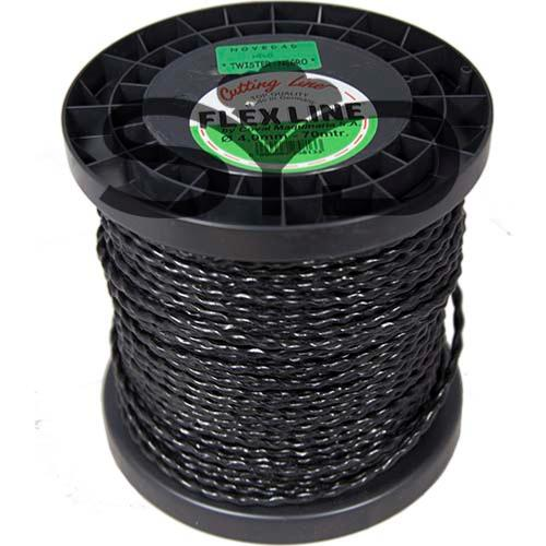 Nylon Twister. Bobina 1 kg. Medidas: 3,5 - 4 mm ø