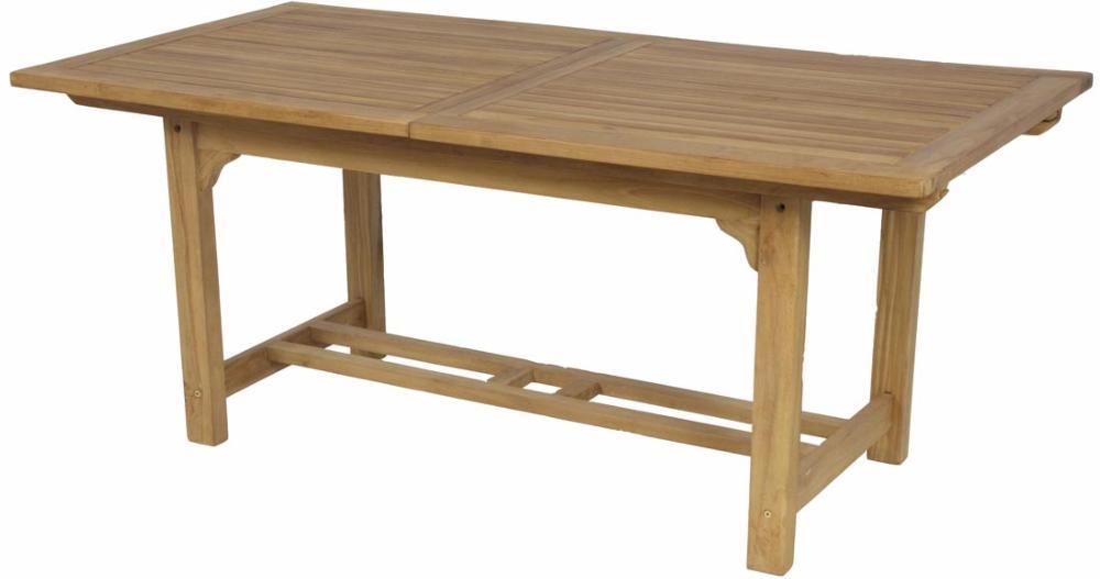 Mesa rectangular extensible teca jard n y exteriores - Comoda mesa extensible ...