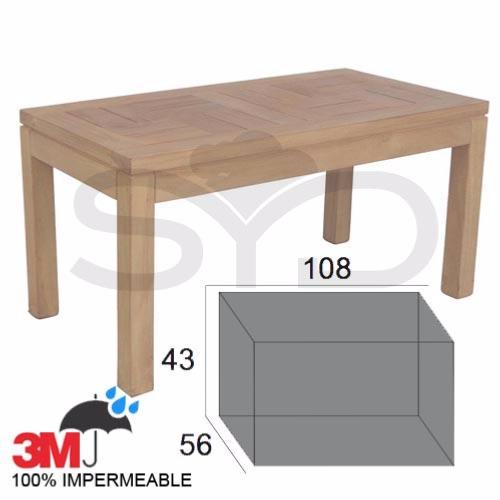 Funda mesa auxiliar mediana de exterior jard n o terraza for Fundas para mesas de jardin
