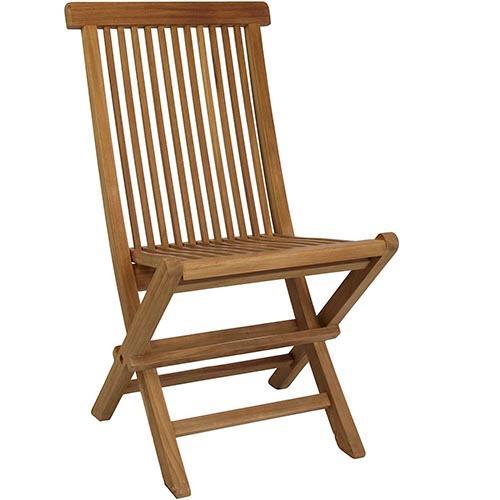 Silla plegable reforzada teca jard n y exteriores oferta for Oferta sillas jardin