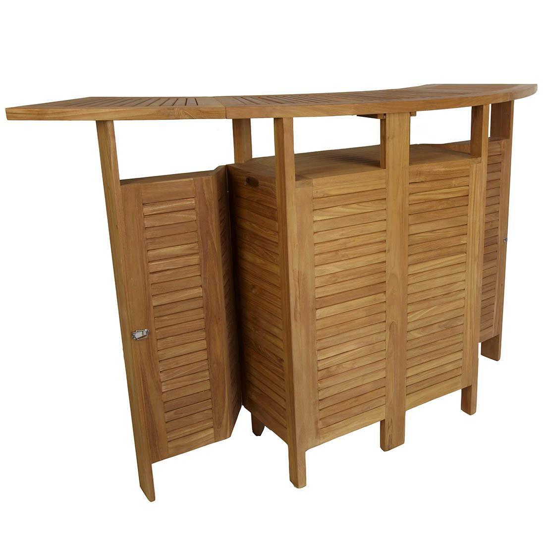 Barra de bar madera de teca oferta jard n y exteriores for Diseno de barras de bar en madera