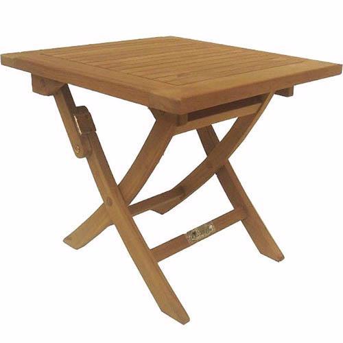 Mesa jardin teca mesa auxiliar plegable 50x50x45cm - Mesa de teca ...